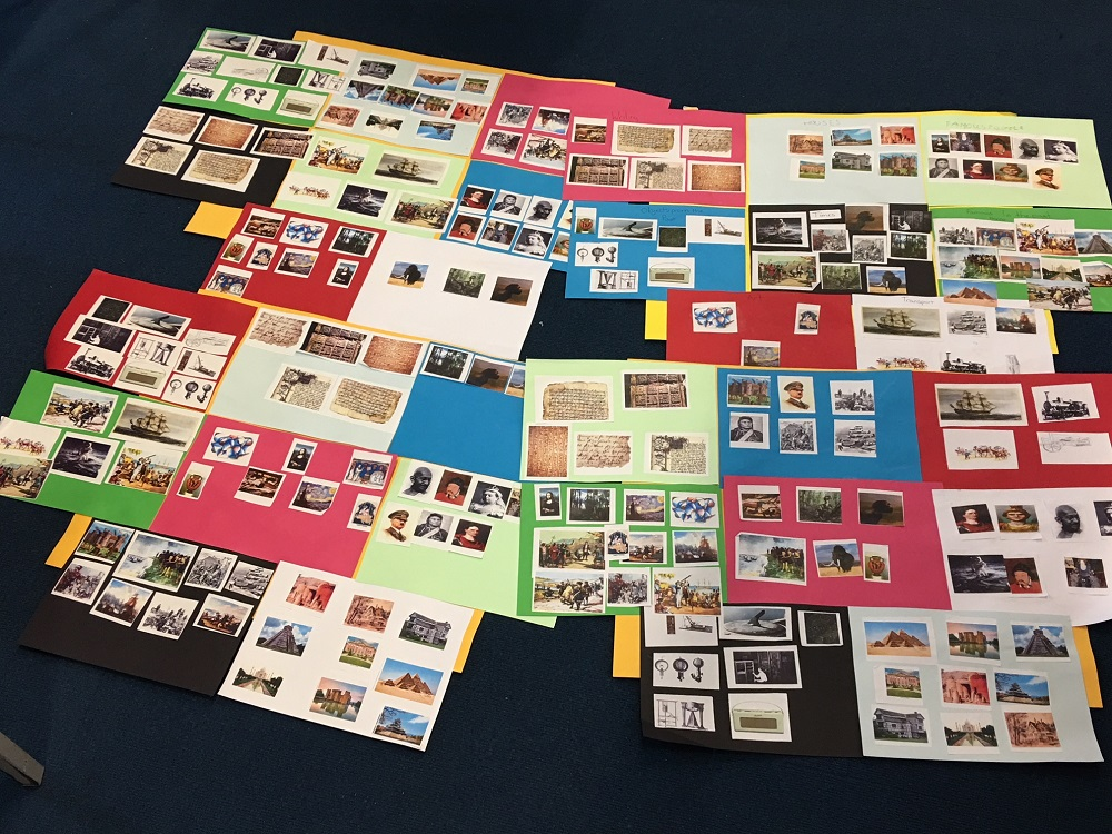 Photo of the history cards